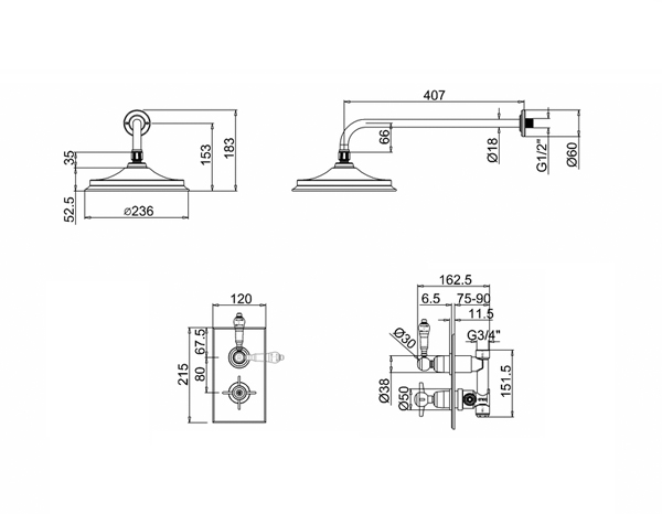 Duscharmatur Unterputz : duscharmatur, edwardian, retro duscharmatur, antike duscharmatur