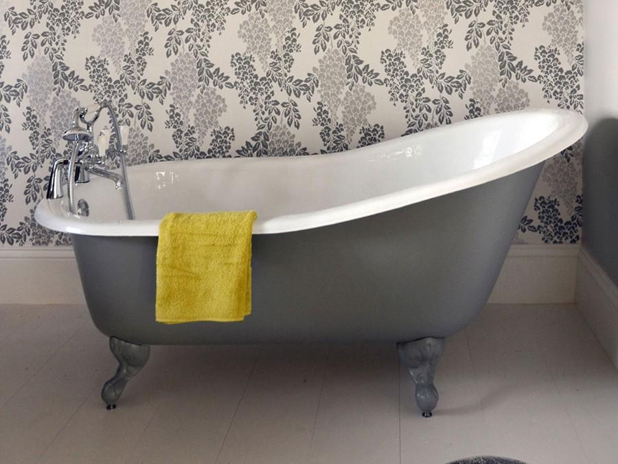 Emaille badewanne freistehend
