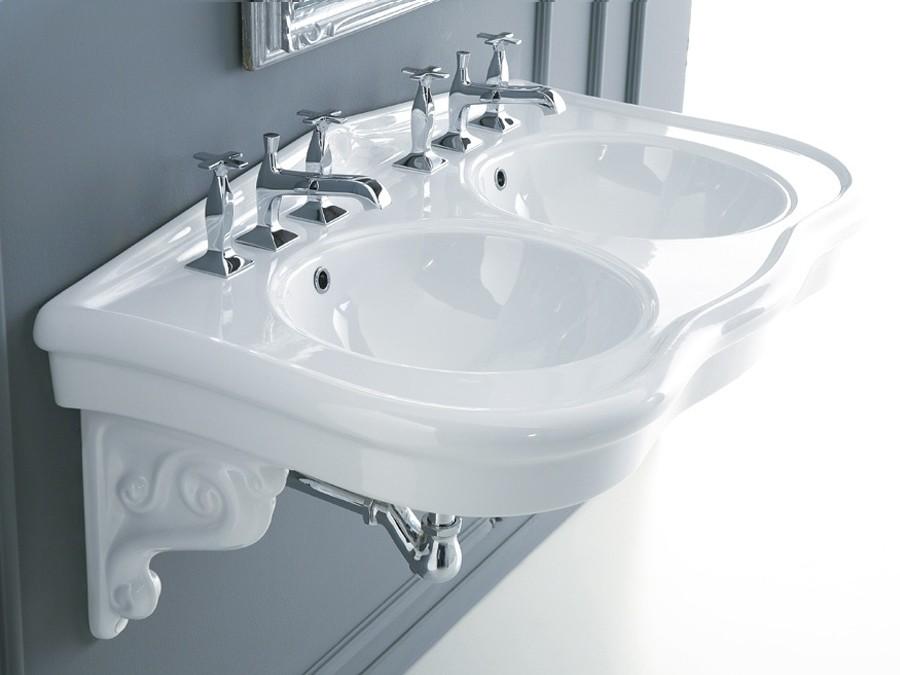 Doppel waschbecken waschbecken keramik waschbecken for Waschbecken bad modern