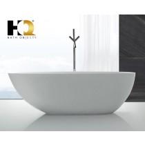 Freistehende Design Badewanne aus Mineralguss Toronto Small