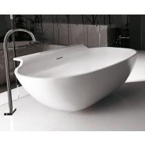 Freistehende Design Badewanne aus Mineralguss Santini